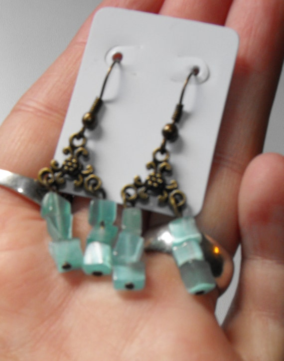 Beautiful Glass Beaded Earrings Look Great for a Night Out