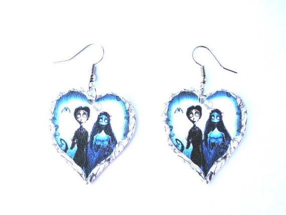 Corpse bride earrings