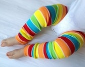 Rainbow Bright Stripe Baby Legs/ Leg Warmers