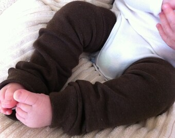 Espresso Brown Baby Legs/ Leg Warmers/ Knee Savers Boot Cuffs
