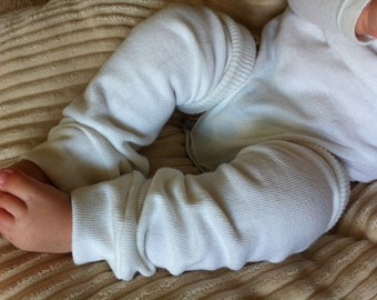 White Baby Legs / Leg Warmers / Arm Warmers/ Knee Savers
