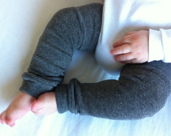 Charcoal Gray Baby Legs / Leg Warmers / Arm Warmers