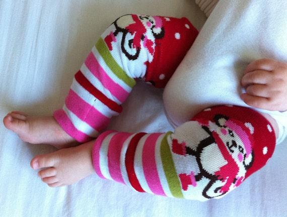 Monkey Winter Baby Legs / Christmas Leg Warmers