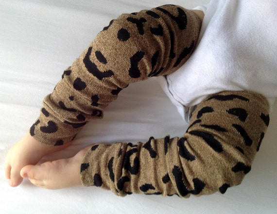 Cheetah Print Baby Legs / Leg Warmers / Arm Warmers