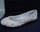 Hand Made Wedding Rhinestone Flats Shoes
