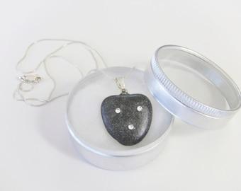 HEART Stone - Heart shaped Beach Stone Pendant - Heart Rock Pendant - Rock Jewelry - Heart Rock Jewelry - Heart stone necklace - rock heart