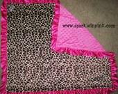 Wholesale Animal Print Minky Baby Blankets