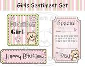 Digital (digi) Girls Sentiment Stamps Set