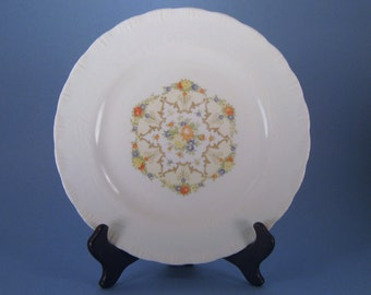 Transfer Ware, Vintgage, China Plate, Shabby Chic, Embossed, Cookie Plate