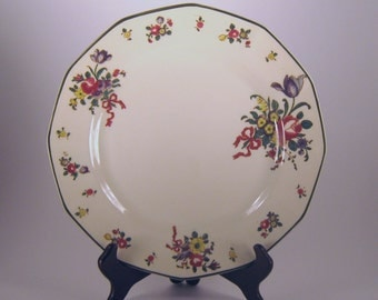 Plate, Royal Dalton, Old Leeds, Sprays Pattern, Large Dinner, Fine China, Classic, Formal