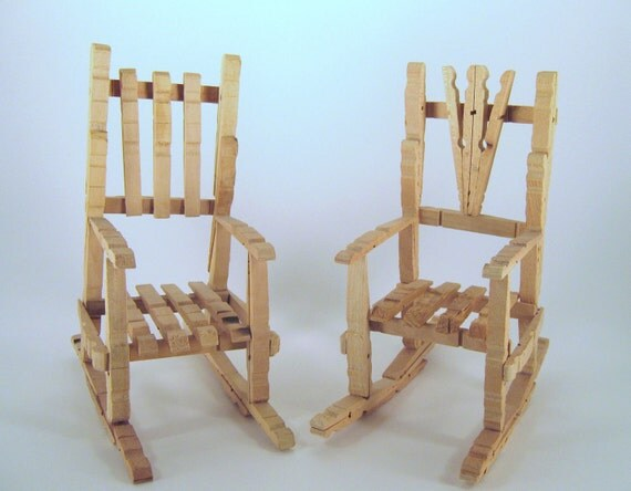 Clothespin Doll Rocking Chairs