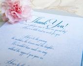 Custom Wedding Reception Thank You