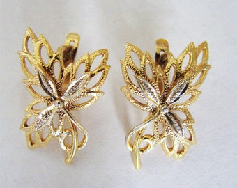 18K Gold over Sterling Silver Huggie Earrings