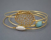 Gold Bangle, Gold Bracelet, Wire Bangle, Flower Bracelet, Gold Bangle, Gold Bracelet, Bridal bracelet, Stackable Bangles, Mums.