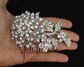 Blooming Branch Swarovski crystal elegant bridal hair comb