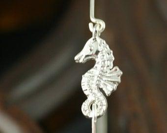 Mystic seahorse silver bangle bracelet