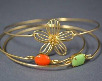The Daisy Story Bangle bracelet set