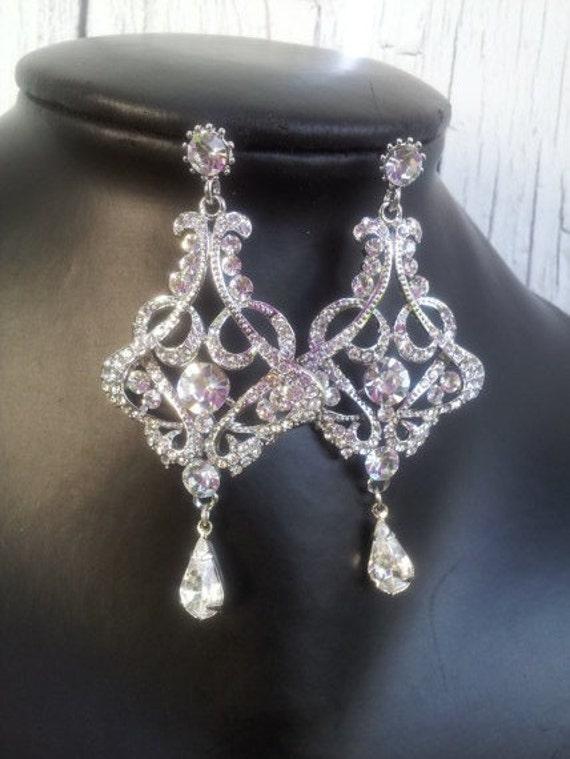 Bridal Earrings Crystal Earrings Wedding Earrings – Chandelier Crystal Earrings
