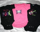 Pretty In Punk onesies Baby Shower Gift Set - Ready to ship