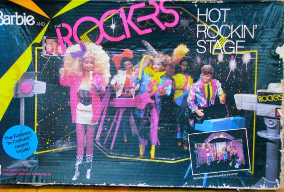 Vintage 1980s Barbie and the Rockers Hot Rockin Stage