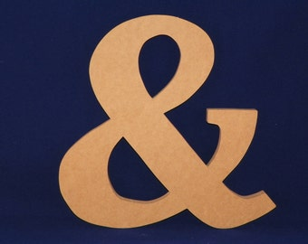 "6"" Wooden Ampersand...Great for Wall hanging, Engagement pictures, DIY and more"