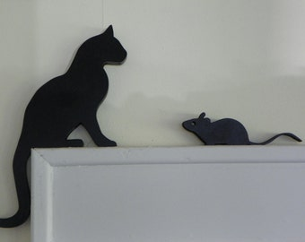 Cat and Mouse Door or Window Topper