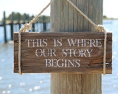 Wedding Sign from Reclaimed Wood- This is Where Our Story Begins