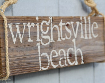 CUSTOM beach sign- your favorite beach or island, reclaimed wood sign
