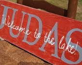 Personalized welcome sign. Last name quote sign.