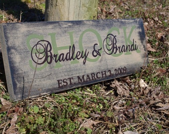 Custom handpainted wedding established sign.  Makes great bridal shower, anniversary, birthday, or gift for yourself