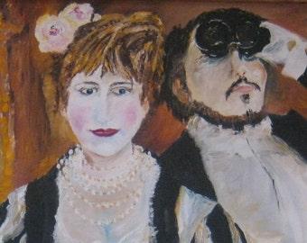 At The Opera, Reproduction Art, La Loge, Renoir Reproduction, Oil Painting, Romantic Art, Renoir Reproduction Art, La Loge, Dan Leasure Oil