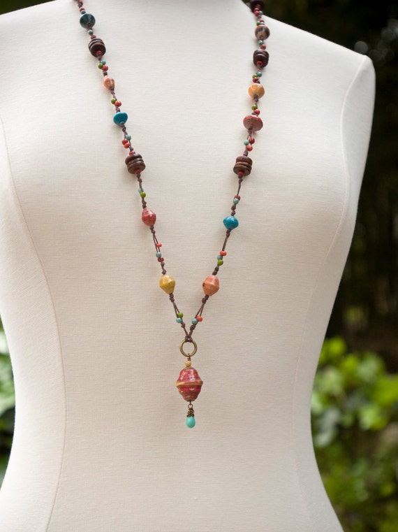 Colorful African Trade Bead Necklace