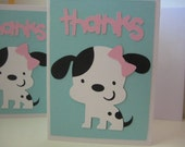 Puppy thank you notes