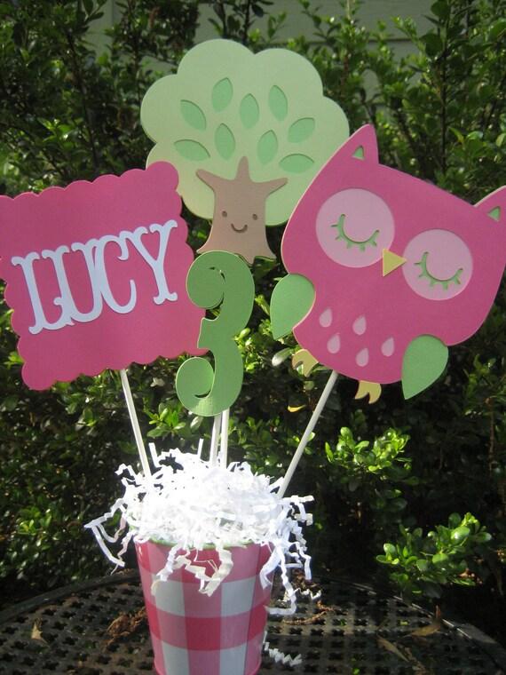 Owl Centerpiece/ Cake Topper/ Birthday Party Decor