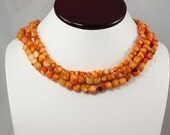 SALE Coral Necklace Orange