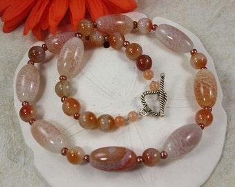 SALE Fossil Gemstone Necklace