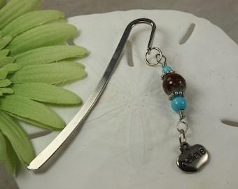 SALE Bookmark Believe Charm, Crystal Bookmark