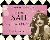 SALE Printable Digital Downloads Buy 3, Get 1 FREE Save Big