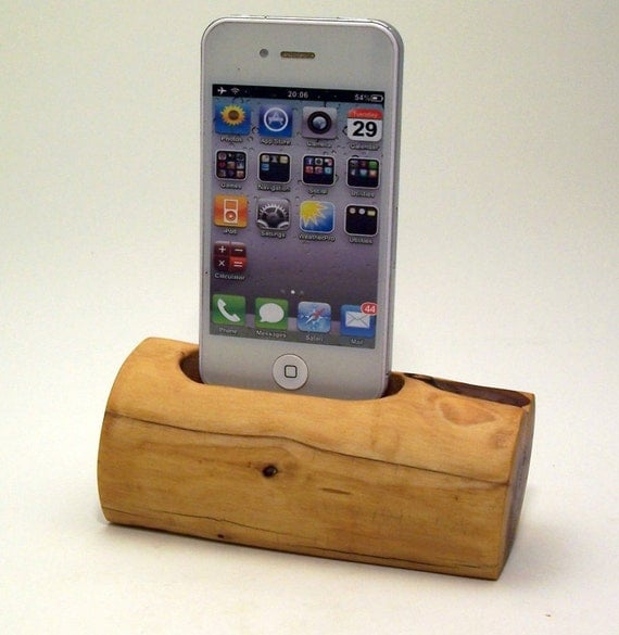 Wooden Charging Dock ~ Wooden iphone charging dock by dockartisan on etsy