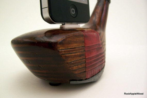 Vintage Stan Thompson Ginty 1 Wood iPhone Golf Dock - ICN427