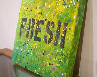 Fresh - original acrylic painting on canvas