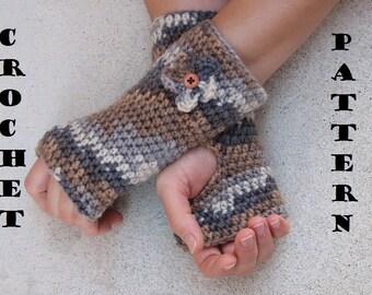 Fingerless gloves with  Flower , Crochet Pattern PDF,Easy, Great for Beginners, Pattern No. 6
