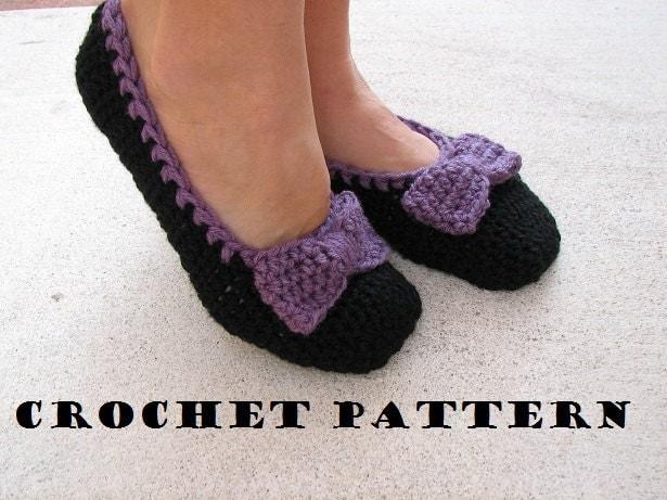 Beginner Crochet Patterns Slippers : Adult Slippers Crochet Pattern PDFEasy Great for Beginners
