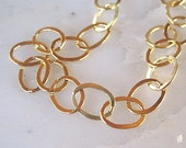 14k Gold Filled 6 x 8 mm Flat Link Cable Chain- Qty 3 Feet