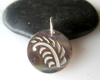 Sterling Fern Leaf Charm - Qty 1 - Sterling Leaf Pendant