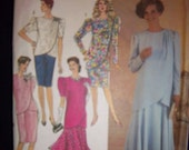 Vintage 1990 Simplicity 7060 2 Piece Mother of the Bride New Factory Fold Sz 6 - 14