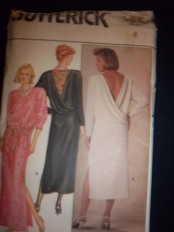 Vintage 1984 Butterick 3018 Mother of the Bride  New Factory Fold Sz 8