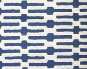 Annie Selke - Links - Color Indigo - Awesome modern geometric print - 3.0 yards