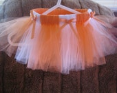 Baby Girl Toddler Orange and White Tutu - Perfect Baby Shower Gift
