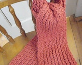 chunky dark salmon scarf -Help a Rat Rescue